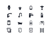 Plumbing icons. Lyra series stock images