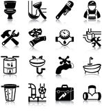 Plumbing icons Royalty Free Stock Photos