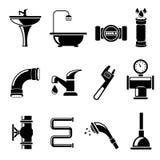 Plumbing icons Royalty Free Stock Photos