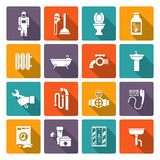 Plumbing icons set Stock Photography