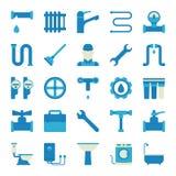 Plumbing icons set Stock Photography