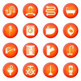 Plumbing icons vector set Royalty Free Stock Images