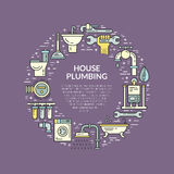 Plumbing Illustration Royalty Free Stock Photography