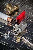 Plumbing inlet pipe valve Royalty Free Stock Image
