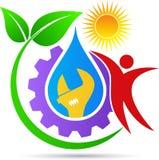 Plumbing logo Stock Photography