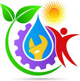 Plumbing logo. A vector drawing represents plumbing logo design vector illustration