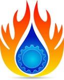 Plumbing logo. A vector drawing represents flame design Stock Photography