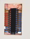 Plumbing manifold system PEX tubing Royalty Free Stock Images