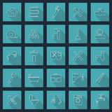Plumbing objects and tools icons vector illustration