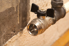 Plumbing pipe with  valve Stock Photos