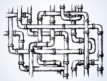 Plumbing Pipes. Vector Drawing Symbol Royalty Free Stock Photo