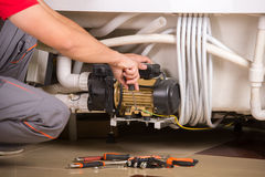 Plumbing. Professional plumber. Plumbing repair service Royalty Free Stock Photos