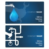 Plumbing repair business card Royalty Free Stock Photos