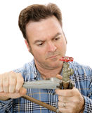 Plumbing Repair Closeup Royalty Free Stock Photography