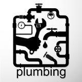 Plumbing repair design Stock Image