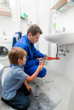 Plumbing repair sink Royalty Free Stock Images