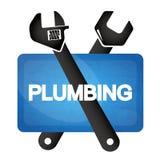 Plumbing repair tool symbol royalty free illustration