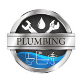 Plumbing and running water vector illustration Royalty Free Stock Image