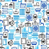 Plumbing seamless pattern. Background for sanitary engineering shop. Sale, service and installation Royalty Free Stock Photography
