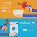 Plumbing Service Banners Stock Images