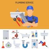 Plumbing Service Concept Royalty Free Stock Photos