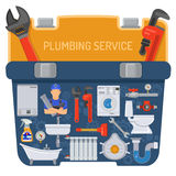 Plumbing Service Concept Royalty Free Stock Photography