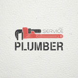 Plumbing service. Home repairs. Repair and maintenance of buildings. Monochrome typographic labels, stickers, logos and badges. Flat vector illustration Stock Photos