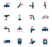 Plumbing service icon set Stock Image