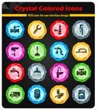 Plumbing service icon set Royalty Free Stock Photos