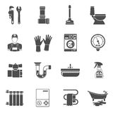 Plumbing Service Icons Set Stock Images