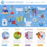 Plumbing Service Infographics Stock Photo