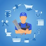 Plumbing Service Concept Royalty Free Stock Images