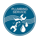 Plumbing service symbol Royalty Free Stock Photo