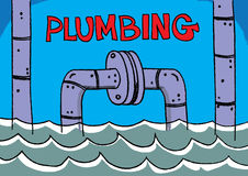 Plumbing service trade profession. Illustration Stock Photography