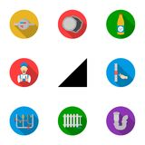 Plumbing set icons in flat style. Big collection of plumbing vector symbol  Royalty Free Stock Images
