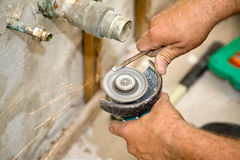 Plumbing - Sparks Fly Stock Photography