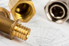 Plumbing supplies Royalty Free Stock Images