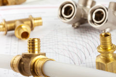 Plumbing supplies Royalty Free Stock Photos