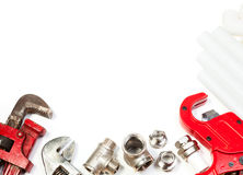 Plumbing supplies stock images