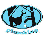 Plumbing symbol Stock Photos