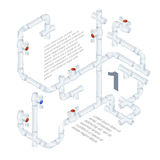 Plumbing System Illustration Stock Photos