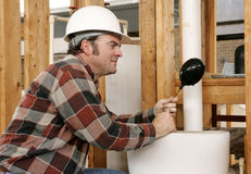 Plumbing Toilet Repair Royalty Free Stock Photo