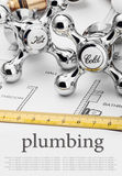 Plumbing and tools Royalty Free Stock Photos