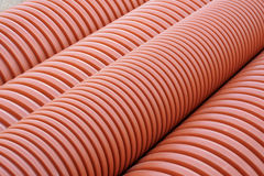 Plumbing tubes close-up Royalty Free Stock Images