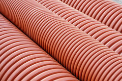 Plumbing tubes close-up Stock Image