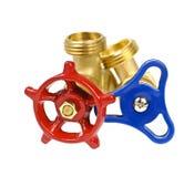 Plumbing valves Stock Photography