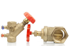 Plumbing valves Stock Photos