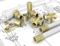 Plumbing valves Royalty Free Stock Photography