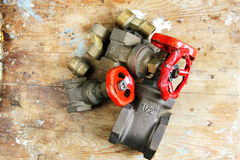 Plumbing valves parts Stock Image