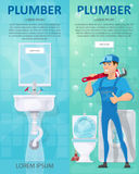 Plumbing Vertical Banners stock illustration